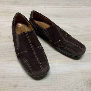 Natural soul brown suede driving shoes loafers